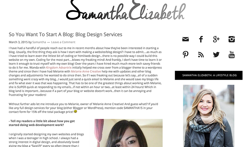 So You Want To Start A Blog (Guest Post @ Samantha Elizabeth)